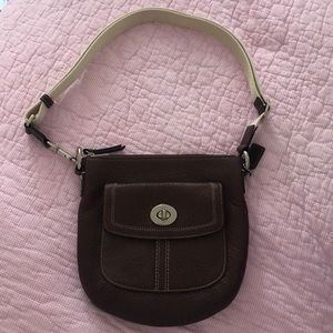 Never-Before-Worn Brown Coach Leather Crossbody